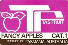 "SALE- Vintage Tasmania Apple Case Labels Fruit Art Poster ""baker's dozen""-Q (13)"