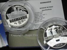 50 Paquebot Normandie 5 Once PP argent seulement 250 Exemplaires Edition