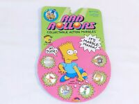 New & Sealed 1990 The Simpsons Rad Rollers Collectible Action Marbles Magnified