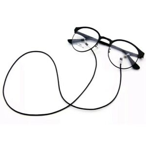 Black waxed cord chain strap string lanyard lace reading eye-glasses spectacle