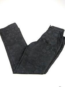 Womens Etro Milano Paisley Print Black Slacks Pants Sz 38 IT 27 X 28   13801