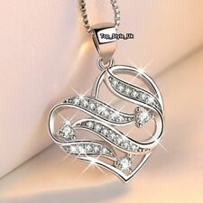 Xmas Presents for Her Daughter Wife Mum Women Sister Diamond Heart Necklace J677