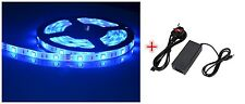 24V 5M Blue LED Strip Ribbon Tape Light SMD5050 x 300 Power Adapter Waterproof