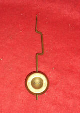 """Ansonia Bent 5"""" Brass Adjustable Pendulum For Ansonia Statue Clocks"""