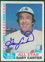 Original Autograph of Gary Carter HOF of the Expos on a 1982 Topps Card