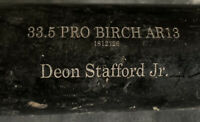 PIRATES DEON STAFFORD JR OLD HICKORY BAT GAME USED PERSONAL BAT CRACKED RARE