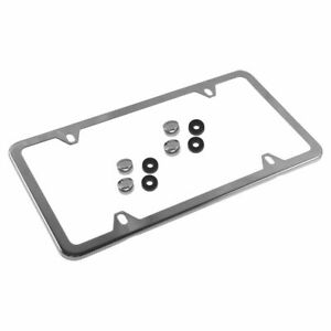 OEM Q6880005 Polished Stainless Steel License Name Plate Frame for Mercedes Benz