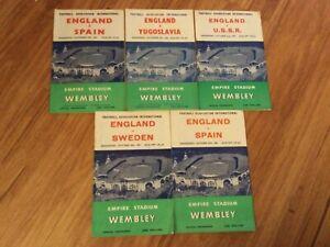 Joblot Collection of 5 England programmes 1955-1960 Spain USSR Sweden Yugoslavia