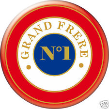 BADGE ROND [56mm] ----GRAND-FRERE--N°1