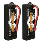 2X 5200mAh 7.4V 50C 2S Lipo Battery Hardcase T/Deans Plug For RC Car Truck Buggy