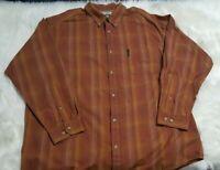 Columbia Sportswear 2XL Mens Orange XXL Button Down Long Sleeve Shirt D-13