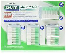 FREE Shipping Sunstar GUM 320 Soft Picks Dental Braces Bridges Floss 4/Cases