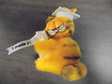 "Adorable Dakin White Hat ""I Made It"" Stuffed  Plush Garfield Graduation Clip On"