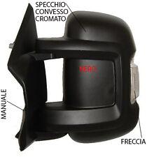 SPECCHIO SPECCHIETTO RETROVISORE SX FIAT DUCATO 2006 IN POI MANUALE NERO FRECCIA