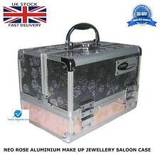 NEO Rose paillettes Professionale in Alluminio Scatola Cosmetici Bellezza Trucco Caso Forte