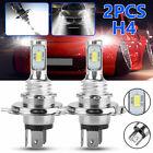 2x H4 9003 Hb2 6000k Super White Csp Led Headlight Bulb Kit High Low Beam Canbus