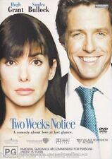 Two Weeks Notice DVD BRAND NEW BEST COMEDY ROMANCE Sandra Bullock Hugh Grant R4