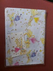 Fairies Wrapping Paper & Tag, 70x50cm BNIB
