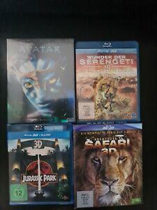 Blu-Ray 3D, 4 mal. Avatar Neu, Jurassic Park usw.
