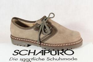 Schapuro Ladies Costume Dress Shoes Brogue Low Shoe Leather Beige New