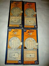 LOT DE 4 CARTES MICHELIN FRANCE N° 57-58 ET 81 - 84 DE 1946