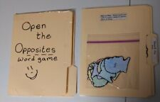 lot of 2 Language Arts elementary Nouns & Opposites file folder games laminated