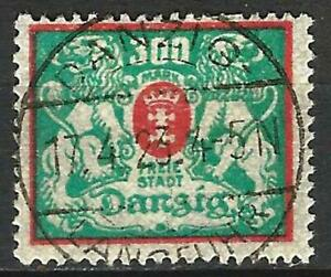 Germany (Weimar Rep.) Danzig 1923 Used - Defin Small State Arms Mi-130 SG-125