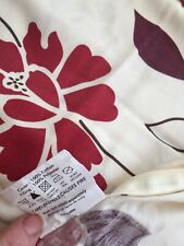 PRELOVED CUSHION COVERS X 2 - RED MODERN FLORAL ON IVORY