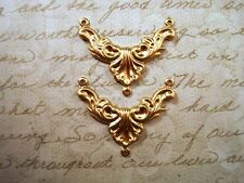 Raw Brass Victorian Connector Stampings (2) - FF0787-1 Jewelry Finding