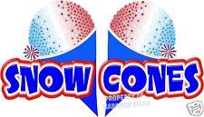 """Snow Cones Sno Kones Concession Trailer Cart Decal 14"""""""