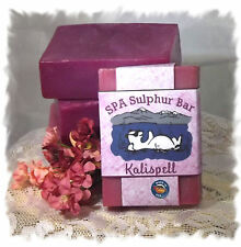 Cherry Almond_Kalispell SPA Sulphur Mineral Soap Made in Montana Handmade
