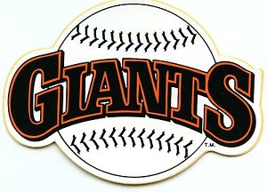 SAN FRANCISCO GIANTS AUTHENTIC TEAM ISSUED STICKER  DECAL VINTAGE 1980'S MINT