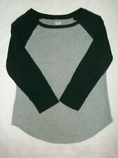 Mossimo T-Shirt Size XS Top 3/4 Sleeve Girl's Gray Black Sleeve Cotton Kid's