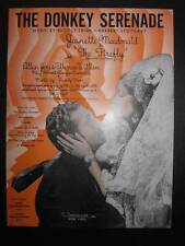 The Donkey Serenade Sheet Music Vintage 1937 The Firefly Allan Jones R Friml (O)