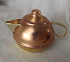 Vintage Doll House Kitchen Copper & Brass with Lid Tea Pot
