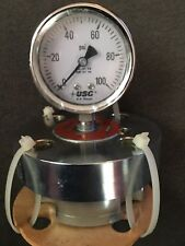 "Ametek US Gauge Glycerin Filled Gauge 2 1/2"" 0-100psi w/ RF Flange"