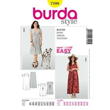 Burda Style Super Easy SEWING PATTERN 7100 Plus Size Dresses 18-34