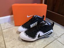Nike Force Zoom Trout 4 Black White Size 10.5 MSRP $130