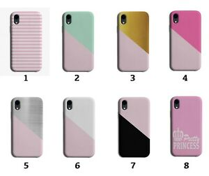 Baby Pink Phone Case Cover Colour Green Gold Silver White Princess 8125 J