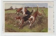 FOX-HOUNDS: Dog postcard by R.H.Buxton (C28208)