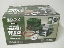 Chicago Camo Radio Controlled Portable Winch 12V 300 lb Capacity Roller Fairlead