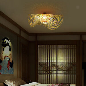 Ceiling Bamboo Light Shades Lamp Shade Chandelier Lampshade for Home Office