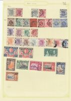 HONG KONG PRE 1953 ALBUM PAGE OF 34 STAMPS