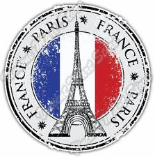 "Paris France Country Flag Stamp Car Bumper Window Vinyl Sticker Decal 4.6""."