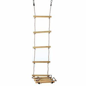 Strickleiter mit 8 Holzsprossen Länge 290 cm Kinder Kletterseil von Gartenpirat