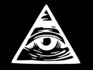 Illuminati All Seeing Eye Vinyl Decal Car Wall Window Sticker CHOOSE SIZE COLOR