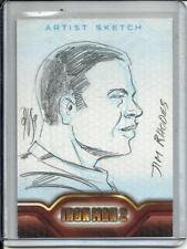 Iron Man 2 2010 Upper Deck Artist Sketch #1/1 by Jim Rhodes