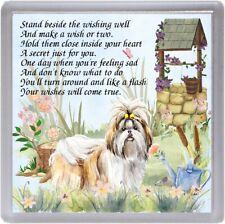 "Shih Tzu Dog Coaster ""WISHING WELL"" Poem ...."" by Starprint"