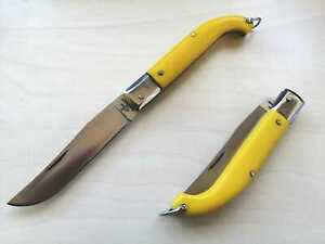Coltello zuavo yellow abs handle tradizional Frosolone KNIFE made in Italy