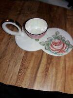 Signed Japan Porcelain Sake Cup and serving tray